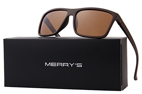 MERRYS Men Polarized Sunglasses Fashion Male Sun glasses 100% UV Protection S8225 Browm