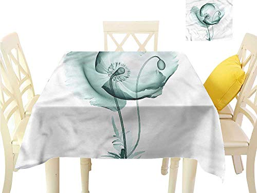 (WilliamsDecor Table Cover Flower,Poppy Blossom Meadow Garden Kitchen Table Cover W 70