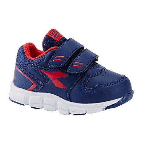 Diadora - Zapatillas de Material Sintético para niño C3561 BLU/ROSSO