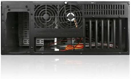 iStarUSA D-400 4U 7 Bays 2 Fans Compact Stylish Rackmount Chassis Silver Power Supply Not Included 146513