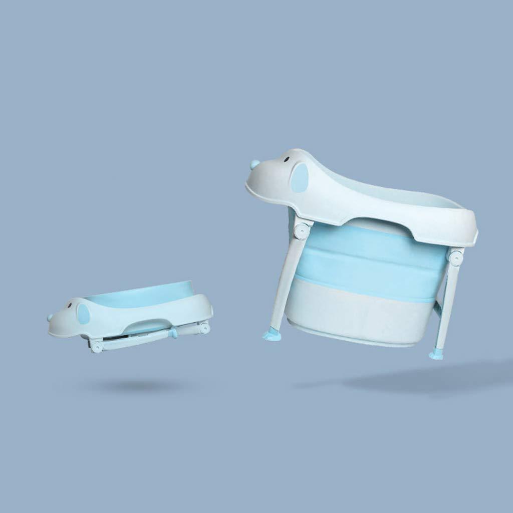 Ali@ Wanne der faltbaren Babydusche der Strohhalmkinderbadewanne Innen-   im Freiengebrauch (Farbe   Blau)