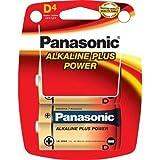 Panasonic AM1PA Alkaline D Plus Batteries - Pack of 4