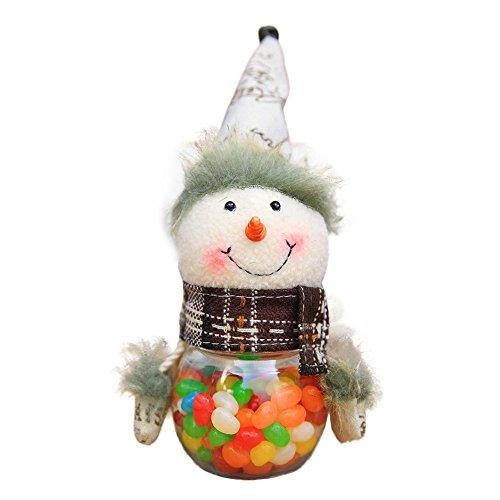 Candy jar !! ZOMUSA Santa Claus Snowman Elk Deer Candy Packaging Christmas Candy Jar (A) ()