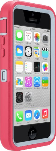 Price comparison product image OtterBox Defender Series Tutti Fruiti Case for iPhone 5C - Retail Packaging - Powder Grey/Candy Pink