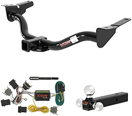 amazon com: curt trailer hitch, wiring & ball mount for ford escape, mazda  tribute: automotive