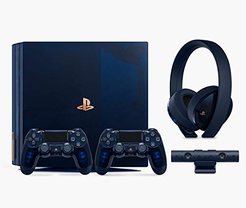 Playstation 4 Pro 2TB SSD Limited Edition Console – 500 Million Deluxe Bundle Enhanced with Fast Solid State Drive