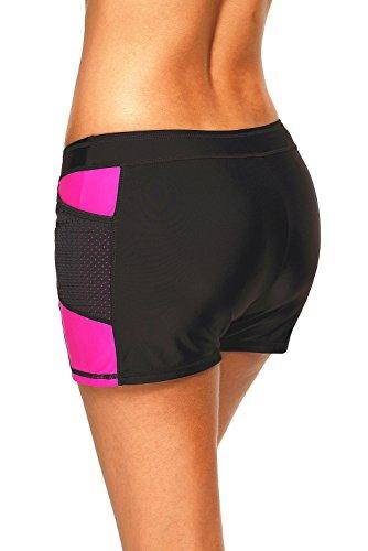 Wide Waistband Bikini Bottom (Aranmei Women's Wide Waistband Swimsuit Bottom Shorts Swimming Panty (Red, Small))