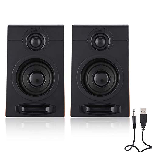 3in Heavy Bass Computer Speakers Lossless HiFi Music for Audio Output of TV, Computer, Tablet PC, Phone and Other Audio…