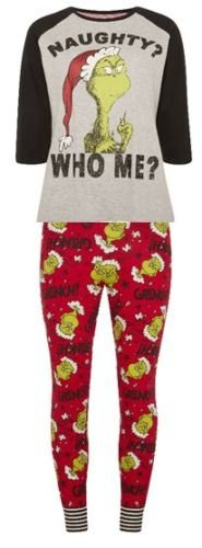 website for discount super cute cozy fresh PRIMARK LADIES GIRLS GRINCH CHRISTMAS XMAS PYJAMA PJ T SHIRT ...
