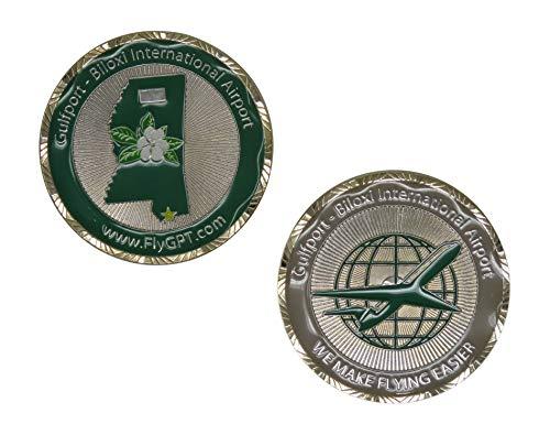 US Gulfport - Biloxi International Airport Challenge Coin Brass Sunburst Sunburst Collection