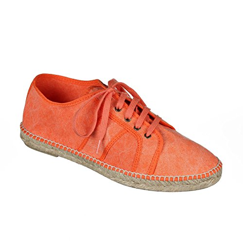 Joe N Joyce Soria Sneaker Espadrilles Orange