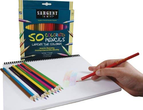 22-7251 Sargent Art Premium Coloring Pencils Pack of 50 Assorted Colors