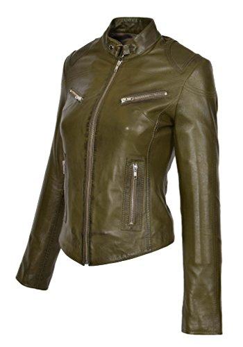 Goods Fashion Manches Blouson Vert Femme Biker Olive A1 Longues Tq1gwxZgn