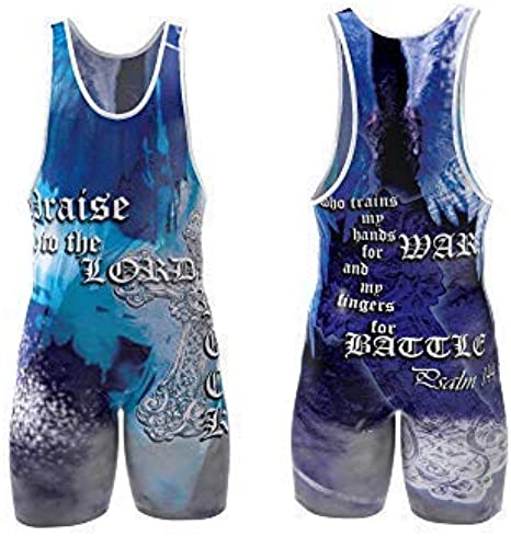Navy Blue Black Powerlifting 4 Time Wrestling Singlet for Men and Youth MMA Apparel Red