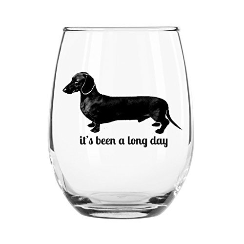 It's Been a Long Day Stemless Wine Glass Wiener Dog Present For Wife Friend Mom Sister Teacher BFF Gift