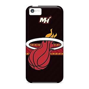 Iphone 5c HBp6857iIaQ Custom Beautiful Miami Heat Pattern Shock Absorption Hard Phone Cover -DannyLCHEUNG