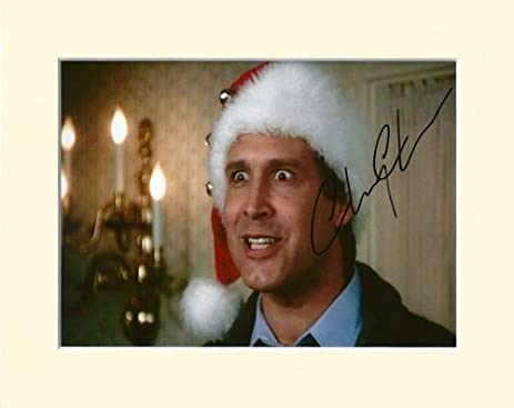 chevy chase national lampoons christmas vacation clark griswold signed autograph photo print in mount by chevy - Clark Griswold Christmas Vacation