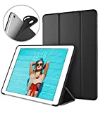iPad Pro 10.5 Soft Back Case, DTTO Ultra Slim [Anti-Scratch] Lightweight Smart Case Trifold Cover Stand with Flexible Soft TPU Back Cover for iPad Pro 10.5 inch [Auto Sleep/Wake],Black