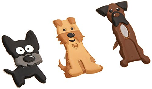 Eyelet Outlet Shape Brads, Puppies, 12-Pack