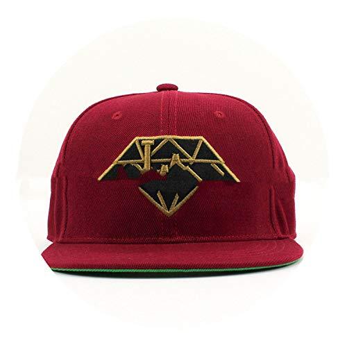 野球帽 ヒップホップフラットハットカスタムメイドの立体的な帽子,レッド,調節可能な