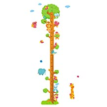 Enerhu Cartoon Children Growth Chart Height Chart Kids Cute Growth Height Sticker Wall Decoration