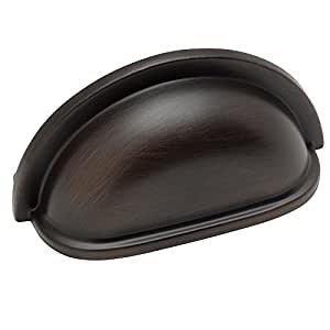 """Cosmas® 4310ORB Oil Rubbed Bronze Cabinet Hardware Bin Cup Drawer Handle Pull - 3"""" Inch (76mm) Hole Centers"""