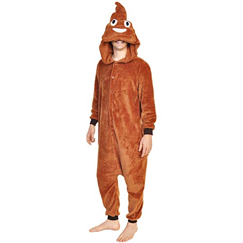 Angelina Plush Animal Sleep Lounge Wear, Poop, S/M