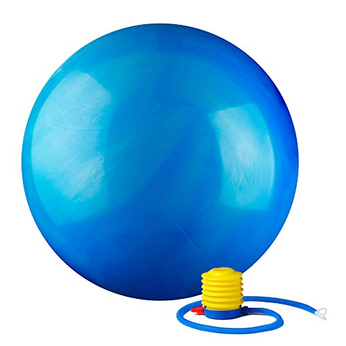 Black Mountain Products Static Strength Exercise Stability Ball with Pumps, 2000 lb, Blue