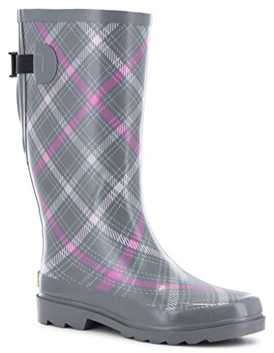 Western Fit Chief Plaid Rain Charcoal Boot 10 Petite Vari n6nPxIrR