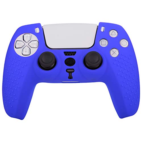 inRobert Silicone Case Protective, Anti-slip Silicone Skin Cover Case for PS5 Controller【Blue】