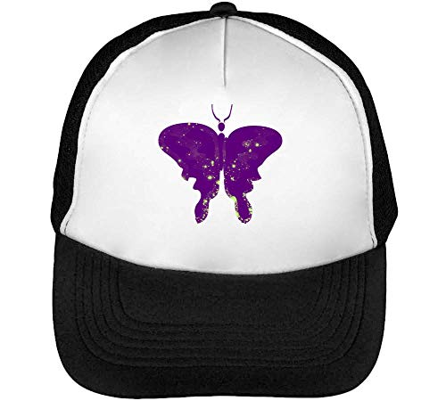 Purple Celestial Butterfly Beisbol Negro Hombre Graphic Gorras Snapback Coloured Blanco Ufp5wrqf