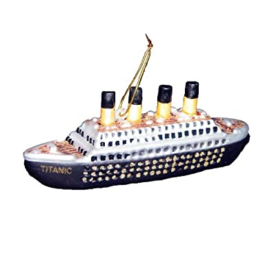 Kurt Adler 5-Inch Noble Gems Glass Titanic Ornament