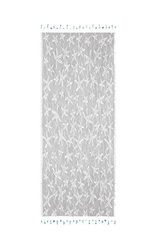 (Heritage Lace Starfish Table Runner, 15 by 48-Inch, White)