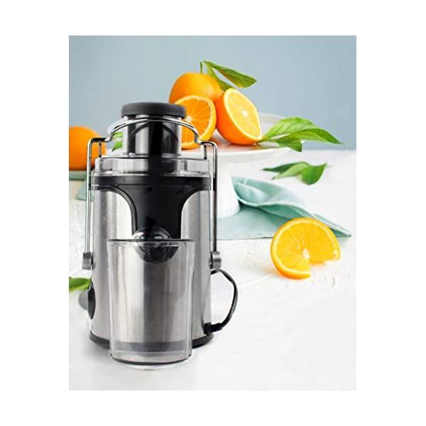 PRIXTON - Estrattore Frutta Verdura/Centrifuga Frutta e Verdura Professionale/Estrattore di Succo a Freddo, 600W, Lame… 5 spesavip