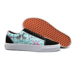 Pdaqs The Pink Gray Dolphin Fish Species Women Canvas Shoes Oldskoo Training Shoes Low Top