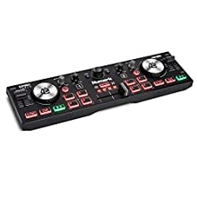 Numark DJ2GO2 Touch – Compact 2 Deck USB DJ Controller For Serato DJ with a Mixer/Crossfader, Audio Interface and Touch Capacitive Jog Wheels