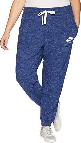 NIKE Women's Plus Size Gym Vintage Extended Pants Blue Void/Sail 1X 30 ()