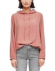 s.Oliver RED Label Damen O-Shape-Bluse mit Kapuze