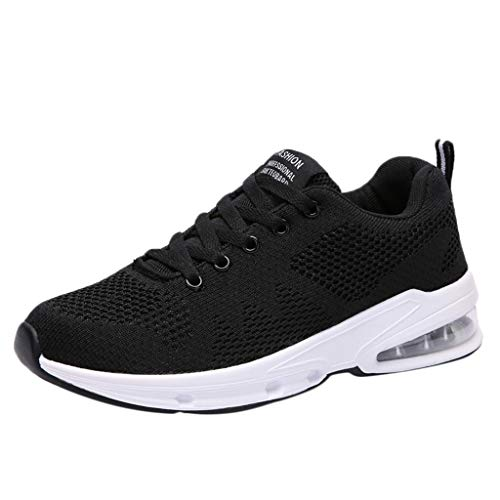 OrchidAmor Women Mesh Breathable Air Cushion Outdoor Shoes Sneakers Wild Casual Work Shoes 2019 Summer Soft Comfy Shoes Black