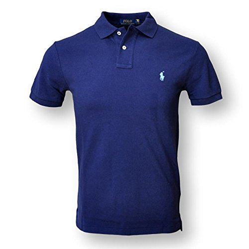 Polo Ralph Lauren Mens Classic Fit Mesh Polo Shirt, Newport Navy, X-Large