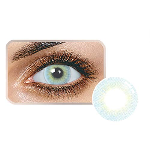 Dickin Multi-Color Cute Contact Lenses Color Blends Cosplay Eyes Cosmetic Makeup Eye Shadow (1 - Eyes For Blue Contacts