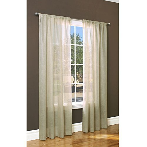 Commonwealth Home Fashions Thermalogic Weathervane Insulated Sheer 50 x 84 Per Panel, Linen
