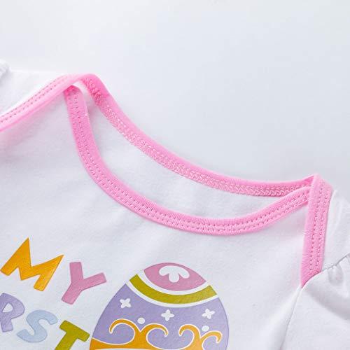 fcafaf2c6583 Amazon.com: NUWFOR 4PCS Newborn Baby Girls Princess Easter Eggs Letter  Print Tutu Dress Outfits Set White: Sports & Outdoors