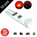 LED Monster 10 x T5 5 SMD Red LED Bulbs Instrument Panel Gauge Cluster Replacement Lamp for Lexus