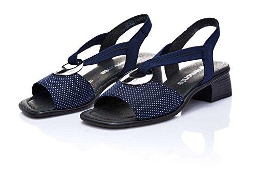 Remonte Damen Sandalette, Bout Ouvert Femme - Bleu - Bleu, 43 EU