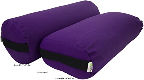 (Bean Products Yoga Bolster - Cotton Rectangle - Purple)