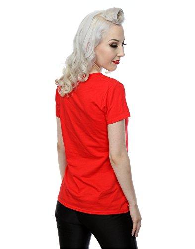 Sesame Street mujer Elmo Face Camiseta Rojo