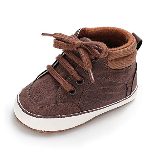 Royal Victory 0-18M Baby Boy Girl Ankle Boots Sneakers Faux Suede Toddler Warm Winter Shoes (12-18 Months M US Infant, 2-Brown)