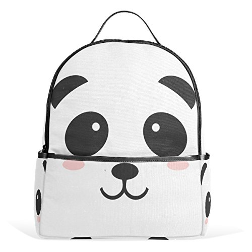 ABLINK Cute Cartoon Panda Lightweight Canvas Leather Trav...