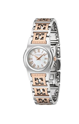 Escada Women's D Ew3805035 Sterling Silver White Mop Dial Rose Gold/Sterling Strap Watch